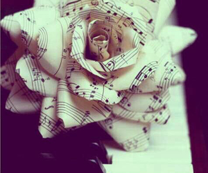 creative, flowers, and music notes image