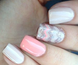 chevron, glitter, and pink image