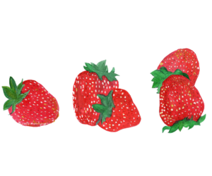 strawberry and transparent image