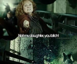 bellatrix lestrange, molly weasley, and harry potter image