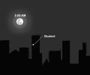 awake, student, and fact image