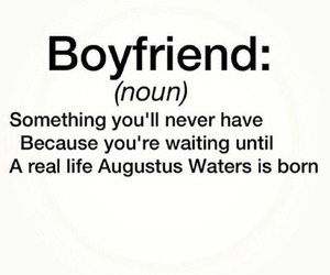 boyfriend, couples, and fault in our stars image