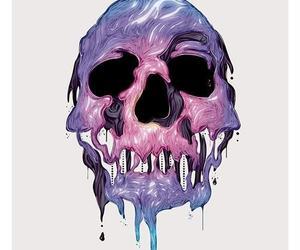 skull, art, and purple image