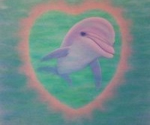 dolphin, pastel, and cute image