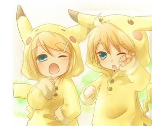 kawaii, vocaloid, and kagamine image