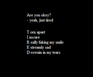 tired, quotes, and sad image