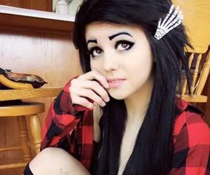 black hair, scene, and emo image