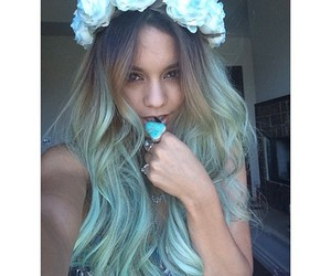 vanessa hudgens, hair, and flowers image