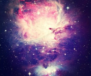 galaxy, pink, and space image