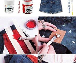 diy, flag, and shorts image