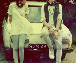 boy, car, and couple image
