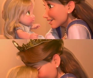 tangled, baby, and disney image