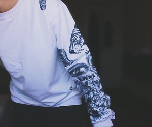 justin, tatto, and tumblr image