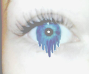 blue eyes, crying, and drip image