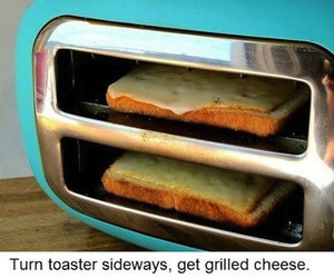 food, toaster, and cheese image