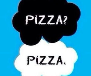 pizza, the fault in our stars, and food image