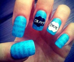 nails, okay, and blue image