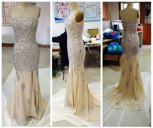 evening dress, party dress, and mermaid dress image