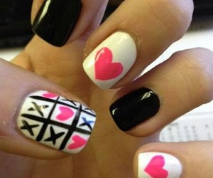 nails, heart, and black image