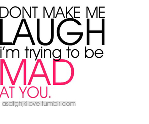 laugh, mad, and quotes image