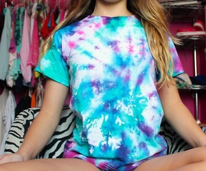 hippy, tumblr, and dip dyed image