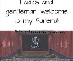 the fault in our stars, tfios, and funeral image