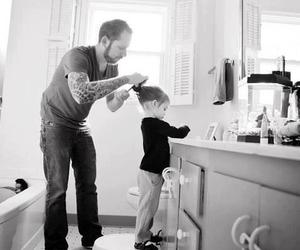 dad, father, and daughter image