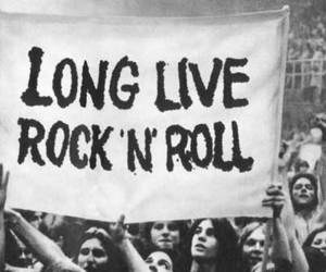 black and white, rock, and rock n' roll image