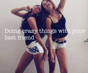 girls, best friends, and crazy image