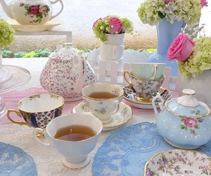 flowers and high tea image