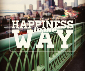 city, happiness, and way image