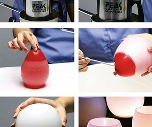 diy, candle, and balloons image