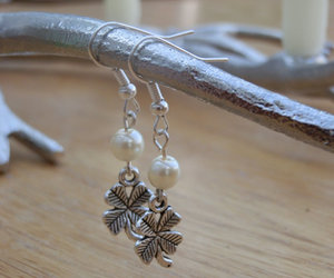 clover, earrings, and etsy image