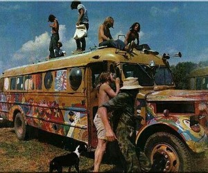 hippie, peace, and woodstock image