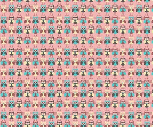little, owls, and pattern image