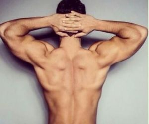 beauty, model, and muscle image