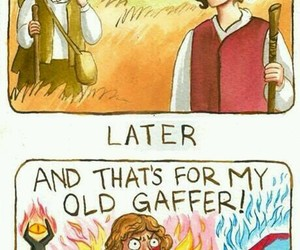 comic, lord of the rings, and LOTR image