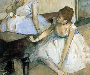 ballerina, edgar degas, and horse image