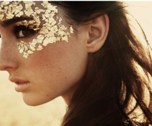 girl, photography, and gold image