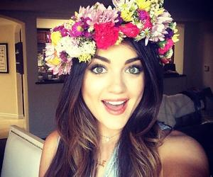 lucy hale, pll, and flowers image