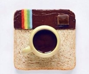 bread, breakfast, and funny image