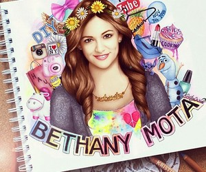 bethany mota, drawing, and youtube image