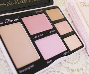 makeup, blush, and beauty image