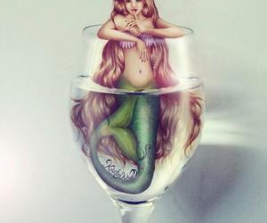 drawing, art, and mermaid image