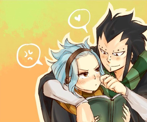 fairy tail, gajeel x levy, and gale image