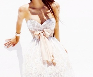 dress, kendall jenner, and bow image