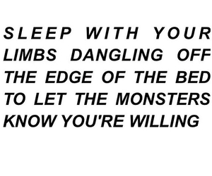 quote, monsters, and sleep image