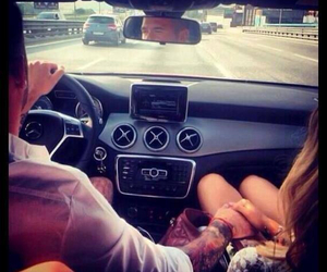 love, couple, and driving image