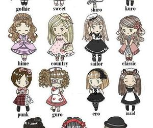 asian, lolita, and look image