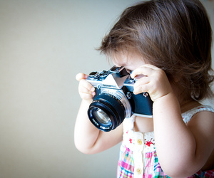 camera, girl, and cute image
